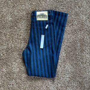 NWT Marc Jacobs Stovepipe Stripe Denim Pants